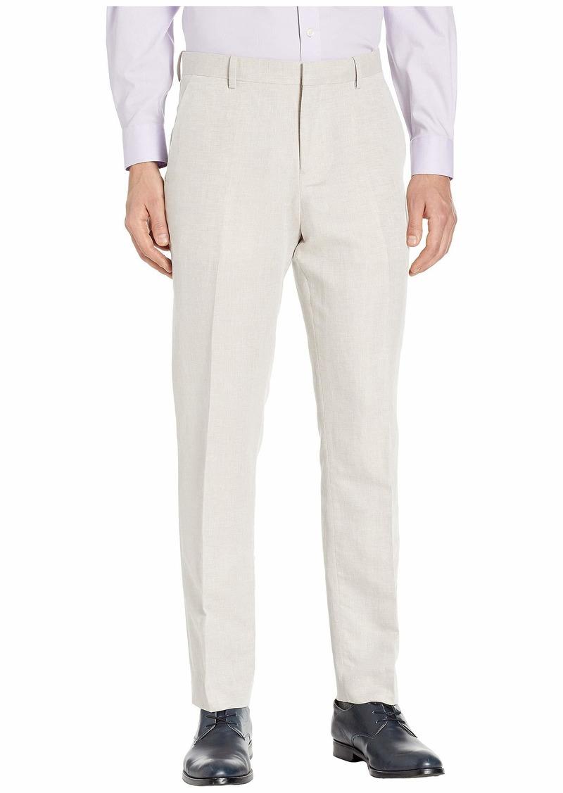 Perry Ellis Men's Portfolio Modern Fit Linen Blend Pants Natural 38x32