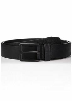 Perry Ellis Men's Portfolio Nickel Buckle Casual Belt black