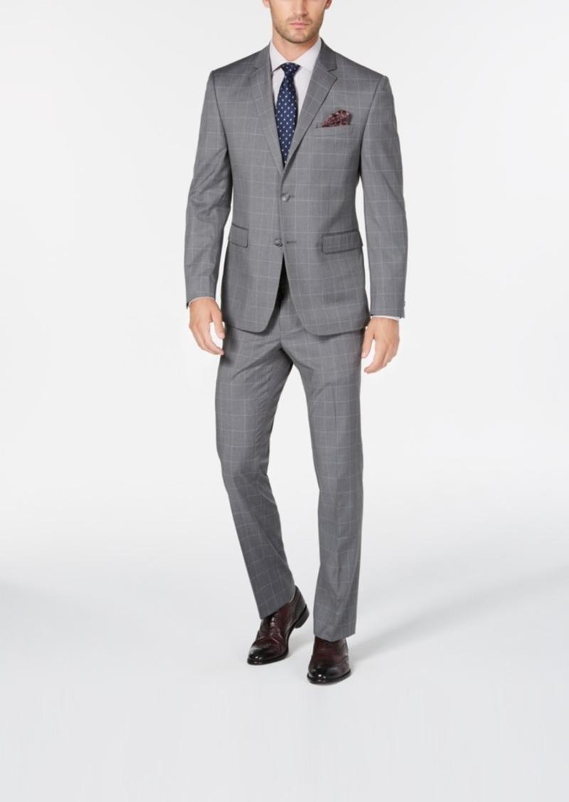 Perry Ellis Mens Slim Fit Stretch Linen Suit Jacket
