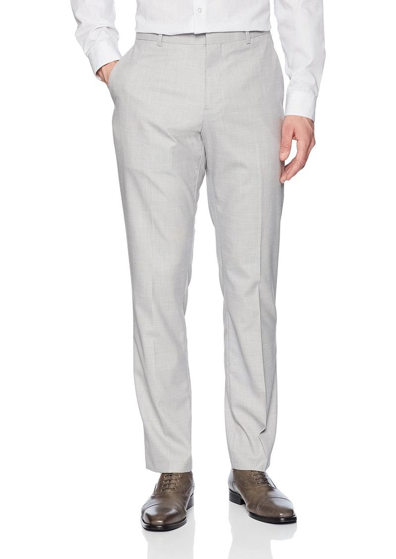Perry Ellis Men's Portfolio Slim Fit Stretch Subtle Plaid Pant  36x34