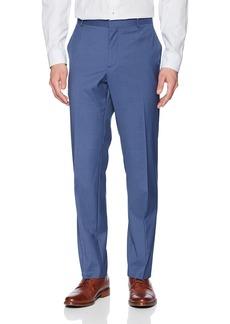 Perry Ellis Men's Portfolio Slim Fit Subtle Check Pant Coastal f jord 38x32