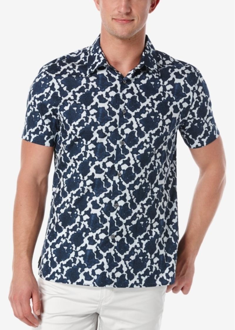 Perry Ellis Men's Portofino Geometric-Print Short-Sleeve Shirt