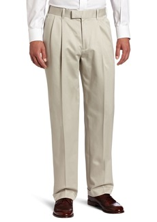 Perry Ellis Men's Premium Twill No Iron Double Pleat Modern Fit Pant  38x29