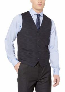 Perry Ellis Men's Print Suit Vest with Stretch Blue Heron/DFV