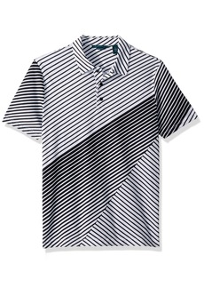 Perry Ellis Men's Printed Cotton Polo black-4DSK7162