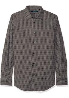 Perry Ellis Men's Printed Geometick Circle Shirt  L