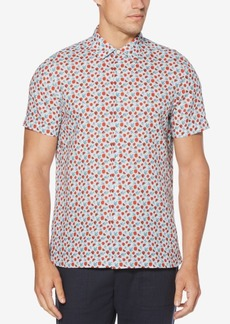 Perry Ellis Men's Printed Linen Shirt