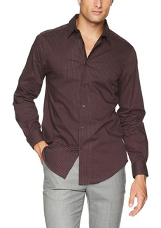 Perry Ellis Men's Printed Mini Dot Stretch Shirt