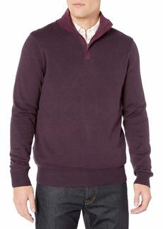 Perry Ellis Men's Quarter Zip Long Sleeve Sweater