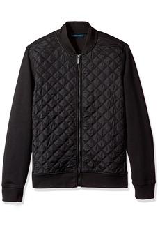 Perry Ellis Men's Quilted Nylon Full Zip Jacket
