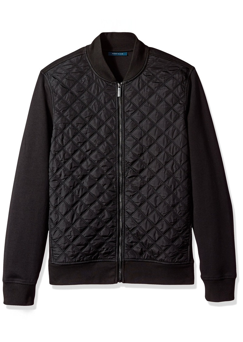 Perry Ellis Perry Ellis Men s Quilted Nylon Full Zip Jacket ... 1e585569d