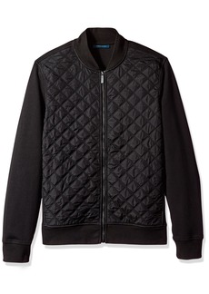 Perry Ellis Men's Quilted Nylon Full Zip Jacket  Extra Large