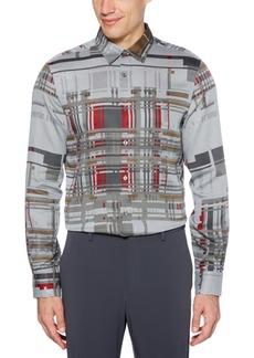 Perry Ellis Men's Regular-Fit Broken Plaid Tweed Shirt