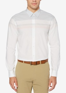 Perry Ellis Men's Regular-Fit Colorblocked Yarn-Dyed Stripe Shirt