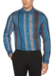 Perry Ellis Men's Regular-Fit Foulard Stripe-Print Shirt
