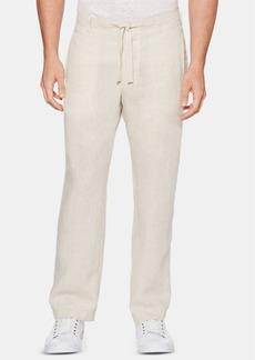 Perry Ellis Men's Regular-Fit Linen Drawstring Pants
