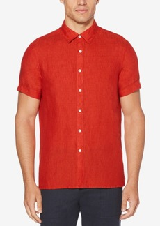 Perry Ellis Men's Regular-Fit Linen Shirt