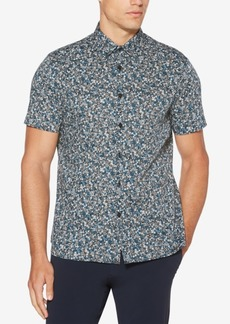 Perry Ellis Men's Regular-Fit Performance Stretch Floral-Print Shirt