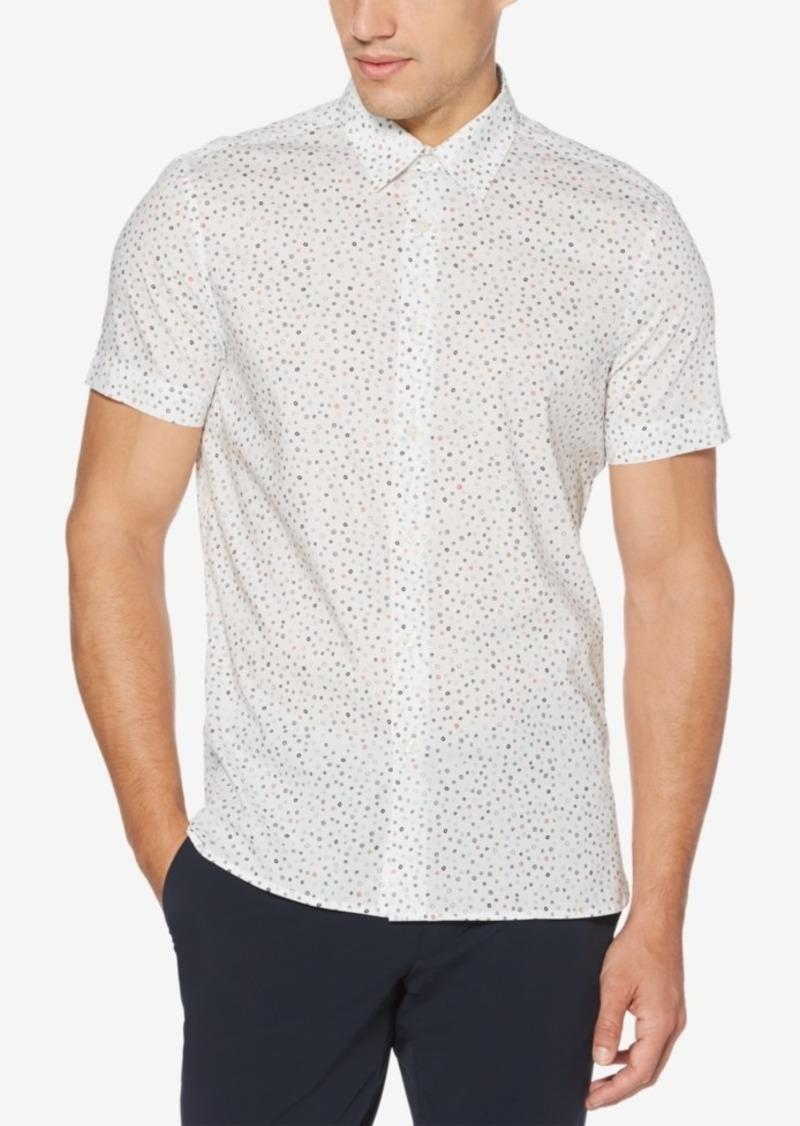 Perry Ellis Men's Regular-Fit Performance Stretch Geo-Print Shirt