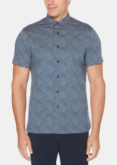 Perry Ellis Men's Regular-Fit Stretch Circle Dot-Print Shirt