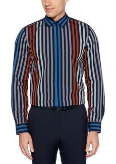 Perry Ellis Men's Regular-Fit Stripe-Print Shirt