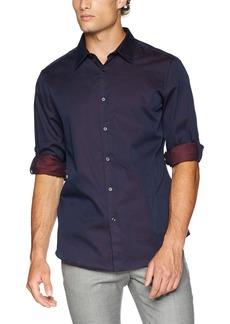 Perry Ellis Men's Roll Sleeve Jadquard Print Shirt  Extra Extra Large
