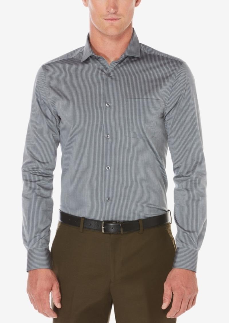 Perry Ellis Men's Royal Non-Iron Multi-Stripe Shirt