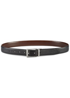 Perry Ellis Men's Saffiano Leather Reversible Belt