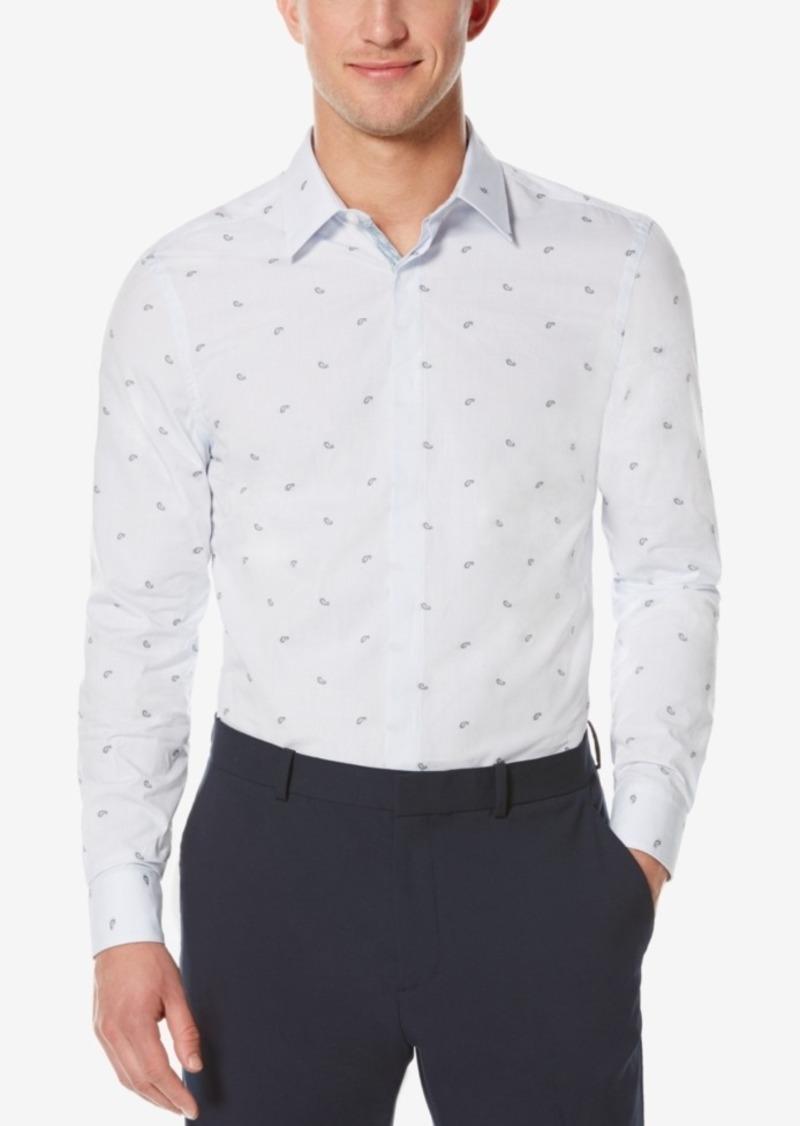 Perry Ellis Men's Scattered Paisley Long-Sleeve Shirt