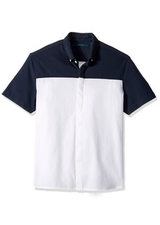 Perry Ellis Men's Short Sleeve Color Block Shirt