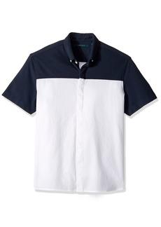 Perry Ellis Men's Short Sleeve Color Block Shirt  Extra Large
