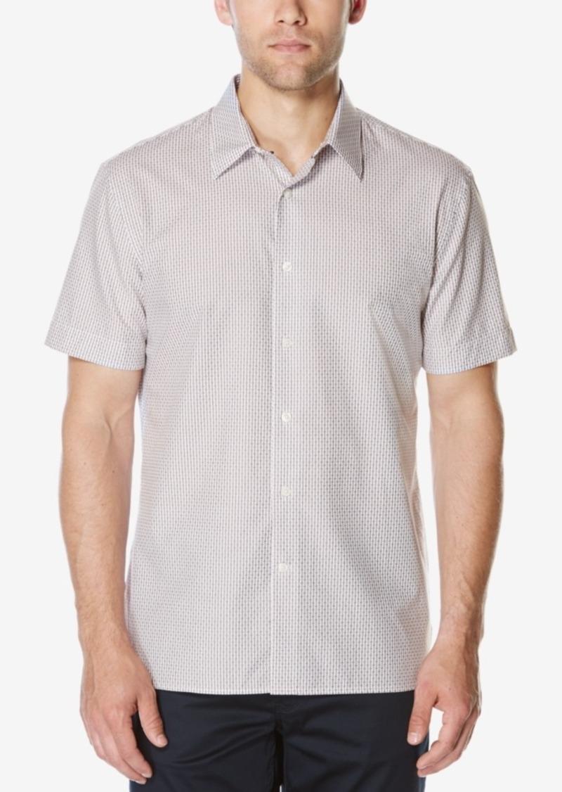 Perry Ellis Men's Short-Sleeve Dobby Shirt