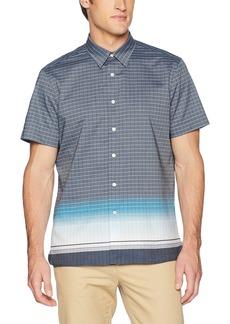 Perry Ellis Men's Short Sleeve Geo Print Shirt-j  Extra Large