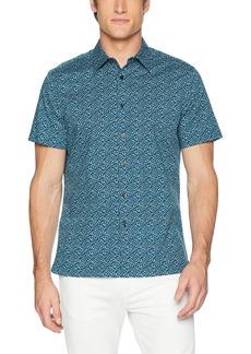 Perry Ellis Men's Short Sleeve Geo Print Shirt-j  Extra Extra Large