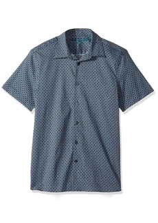 Perry Ellis Men's Short Sleeve Modern Geo Print Shirt