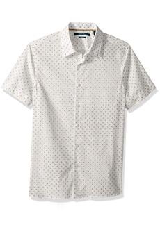 Perry Ellis Men's Short Sleeve Modern Geo Print Shirt Bright White-4DSW7069 Extra Large standard