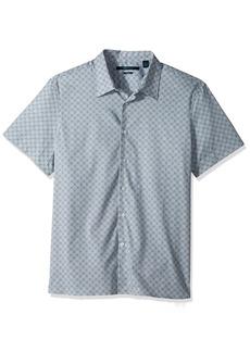Perry Ellis Men's Short Sleeve Modern Geo Print Shirt  Extra Large