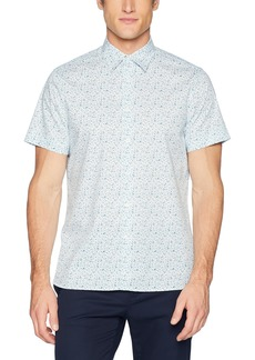 Perry Ellis Men's Short Sleeve Paisley Print Shirt