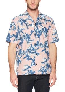Perry Ellis Men's Short Sleeve Palm Print Shirt