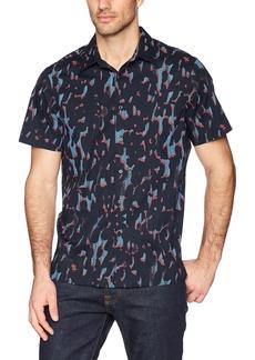 Perry Ellis Men's Short Sleeve Print Shirt  Extra Large