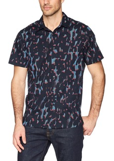 Perry Ellis Men's Short Sleeve Print Shirt   Extra Extra Large