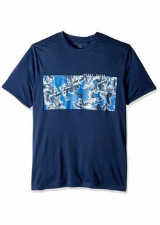 Perry Ellis Men's Short-Sleeve Quick-Dry UPF 45 Swim Tee Medieval Blue-4ESK1904