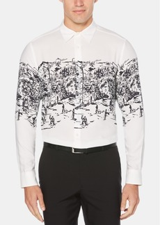 Perry Ellis Men's Ski Lodge Graphic Shirt