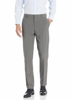 Perry Ellis Men's Slim Fit Check Stretch Pant Mushroom Grey-4EMB4315