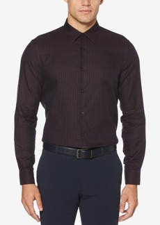 Perry Ellis Men's Slim-Fit Dot Check Jacquard Shirt