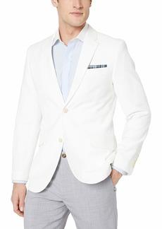 Perry Ellis Men's Slim Fit End Linen Jacket Bright White-4ESJ7407