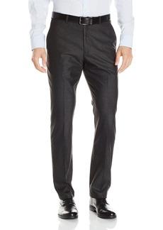 Perry Ellis Men's Slim Fit Heather Texture Flat Front Pant  34x34