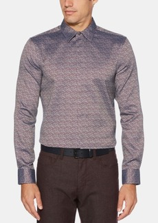 Perry Ellis Men's Slim-Fit Jacquard Shirt