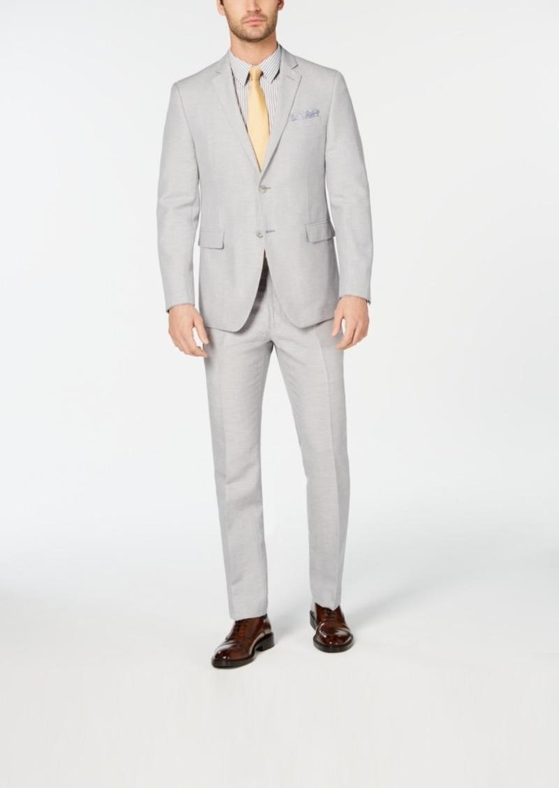 Perry Ellis Men's Slim-Fit Light Gray Suit