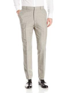 Perry Ellis Men's Slim Fit Linen Cotton End On Flat Front Pant  32x32